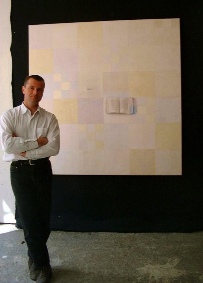 © DR Stéphane Braconnier, dans son atelier, en 2009.
